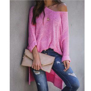 KIARA Loose Fit Long Sleeve Knit Sweater